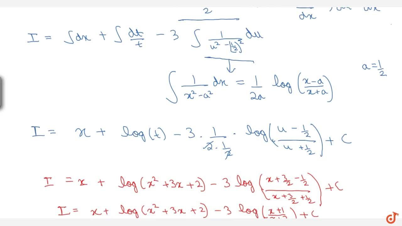 Solution for Examples: ( x^2 + 5x + 3) , ( x^2 + 3x + 2) dx