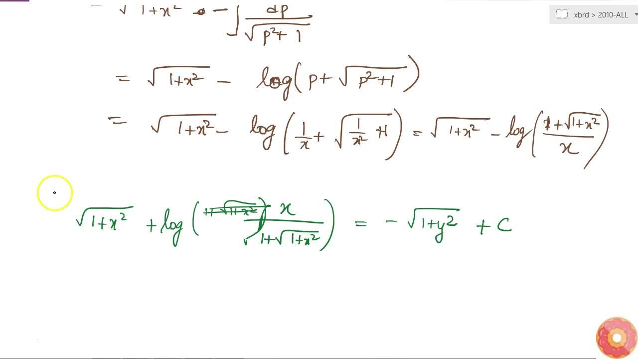 Solution for Solve the following differential equation:  sqrt(
