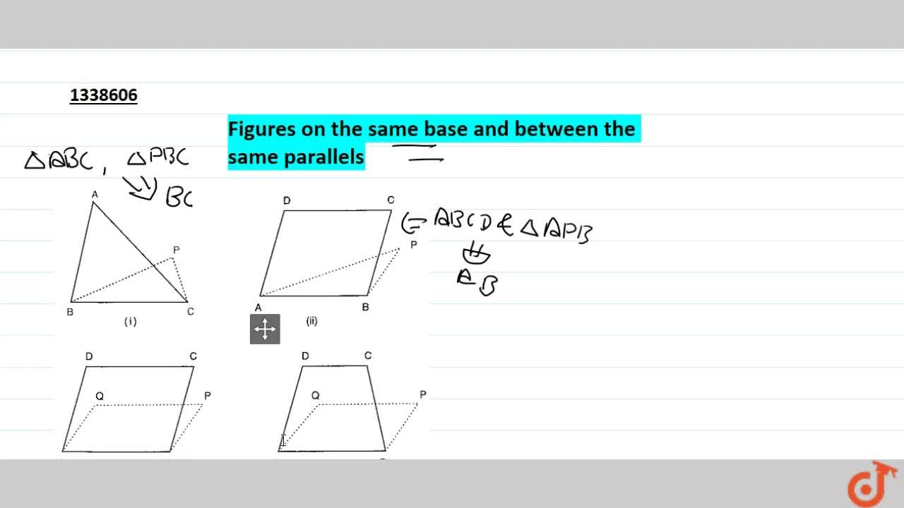 Figures on the same base and between the same parallels