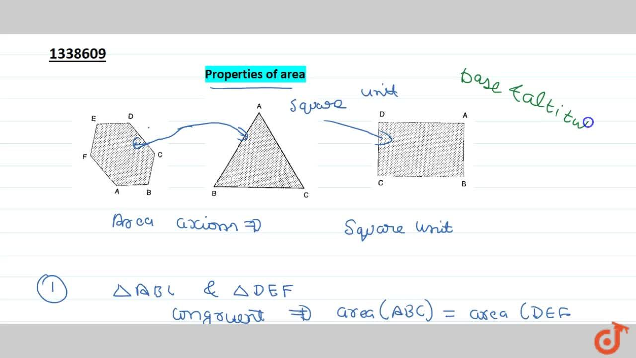 Solution for Properties of Area