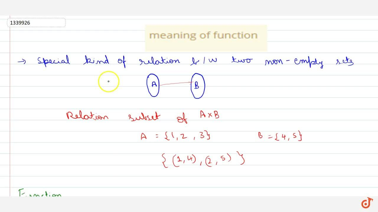 meaning of function
