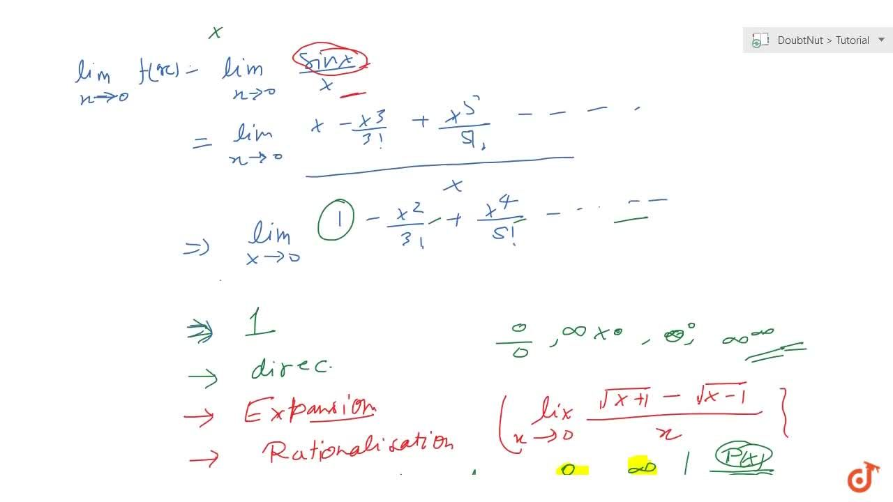 Revision of limits
