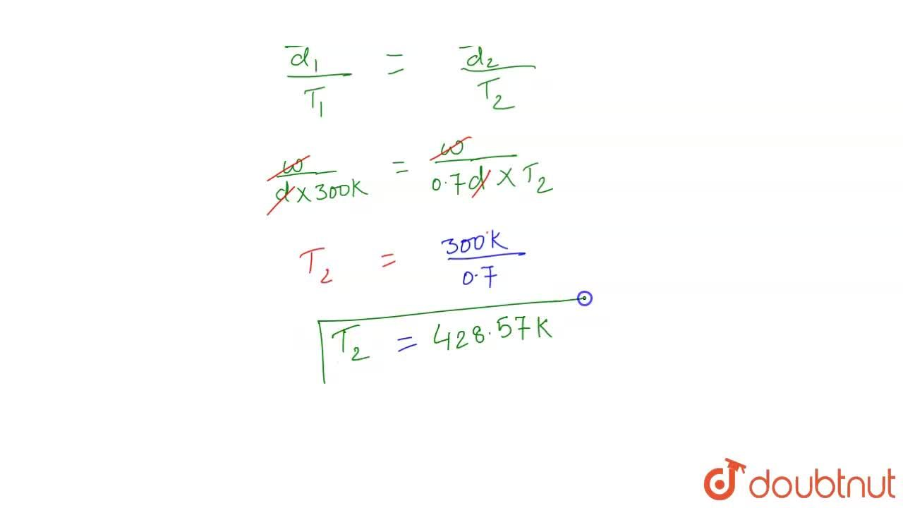 Solution for The density of a gas at 27^(@)C and 1 atm is d