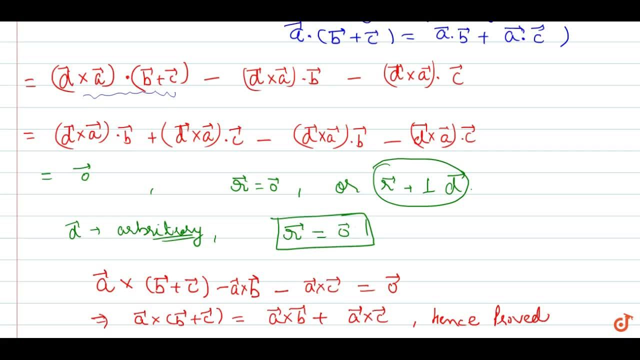 Solution for Property 8: Distributivity of vector product over