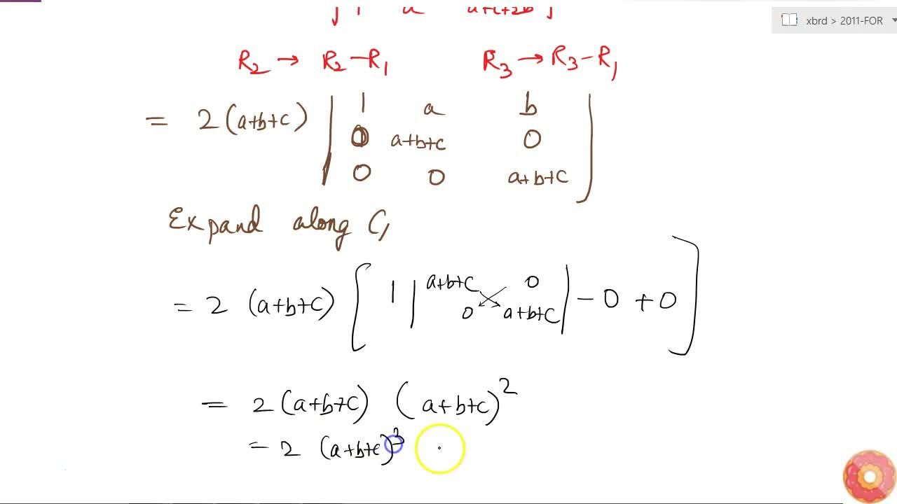 Solution for Prove the following, using properties of determina