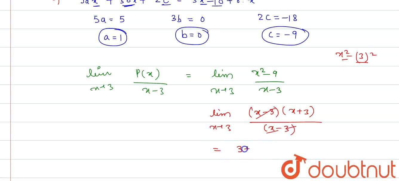 Solution for If P(x) is a polynomial such that P(x)+P(2x)=5x