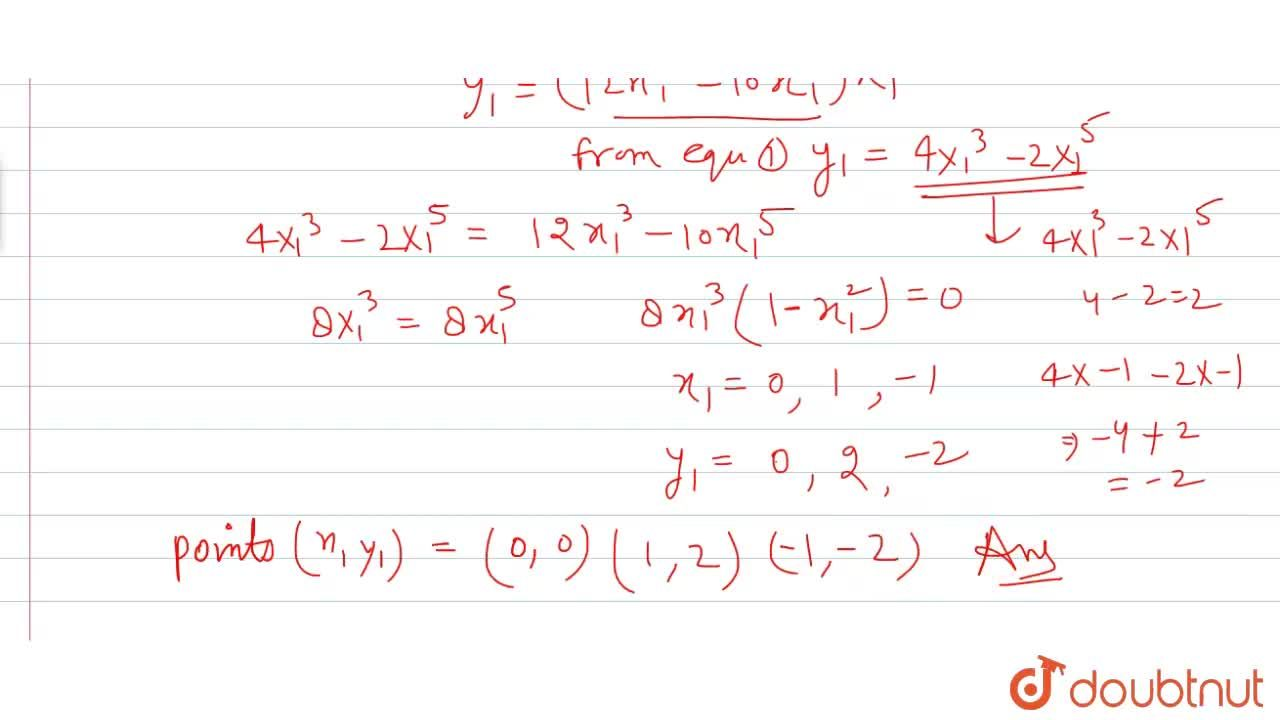 Solution for For the curve y=4x^3-2x^5,find all the  points a