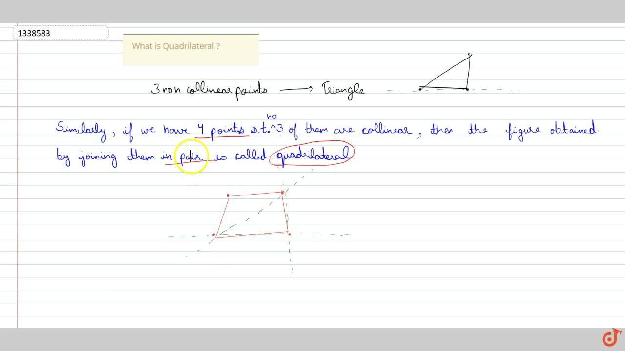 Solution for What is Quadrilateral ?