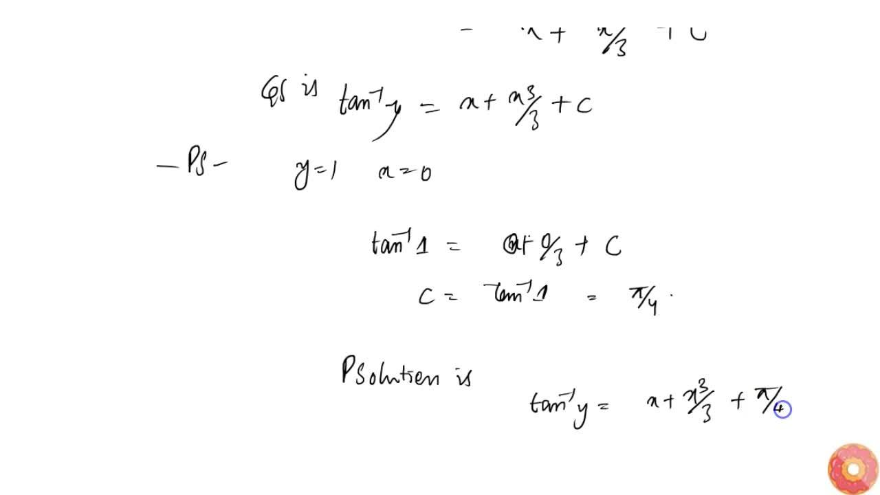 Find the particular solution of the following