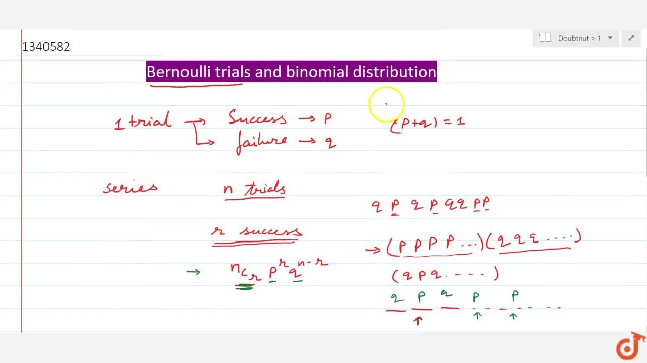 Solution for Bernoulli trials and binomial distribution