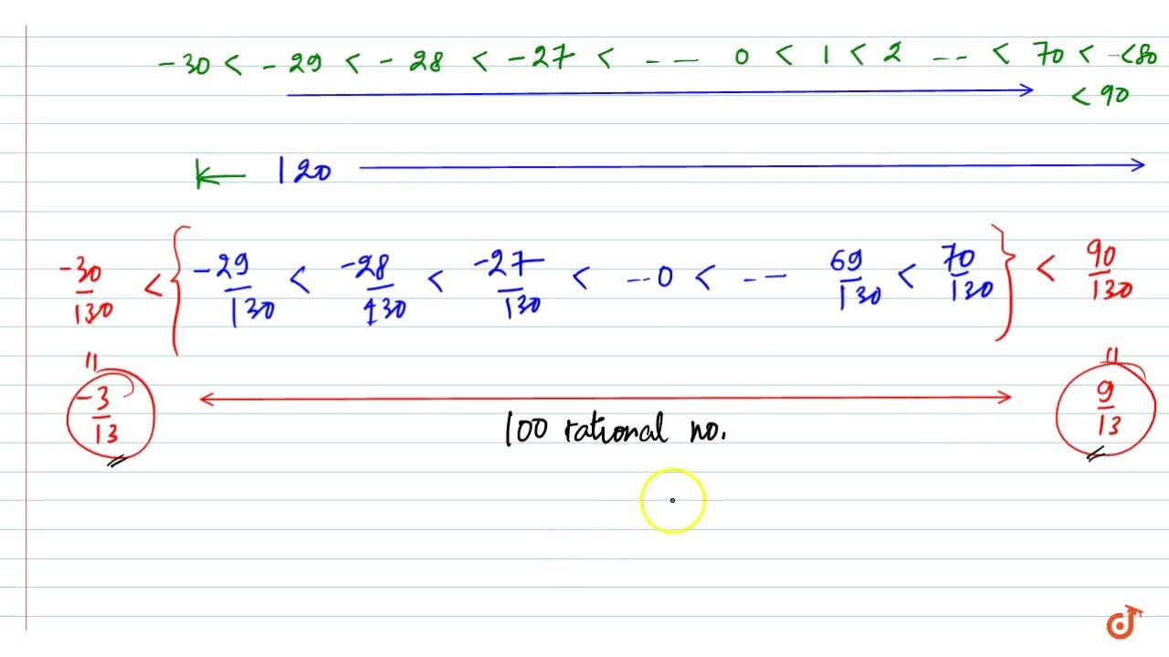 Solution for Insert 100 rational numbers between -3,13 and 9,13