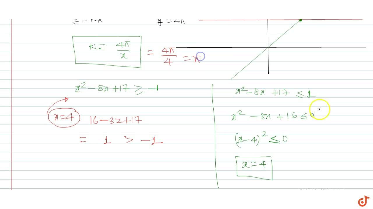Solution for The value of K if the equation k x+sin^(- 1)(x^2-