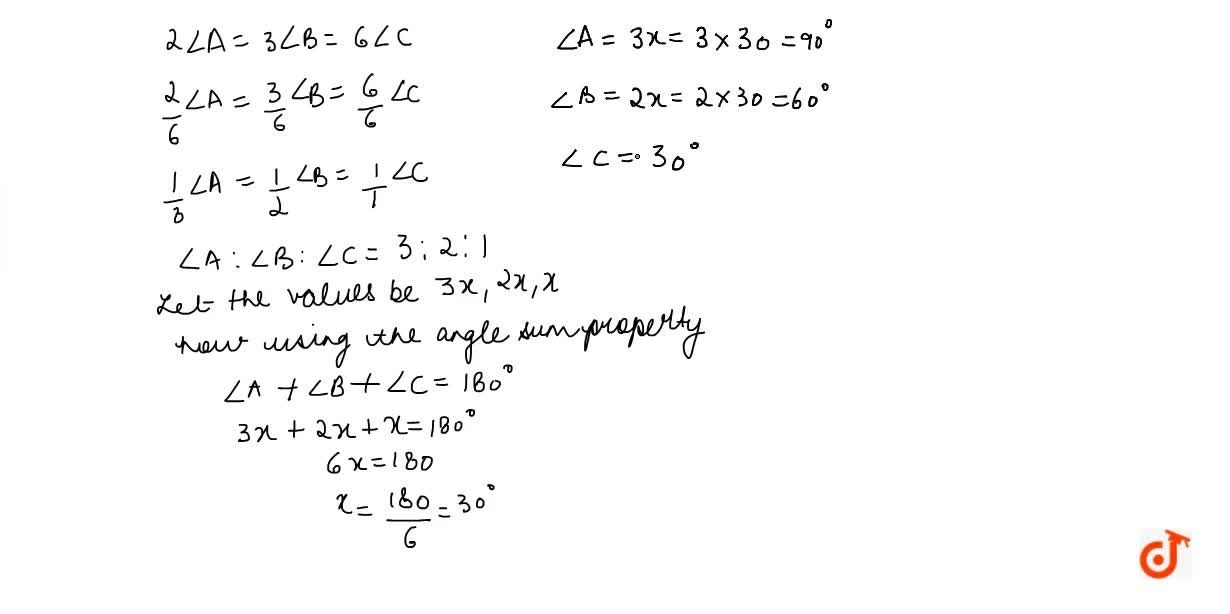 Solution for In a  A B C , if 2,_A=3,_b=6\ ,_c , determine