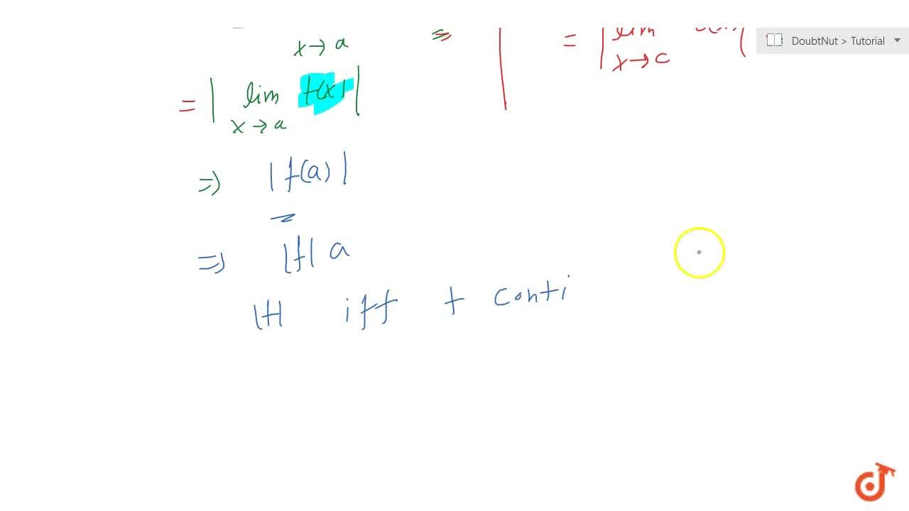 Solution for If f is continuous on its domain D; then |f| is