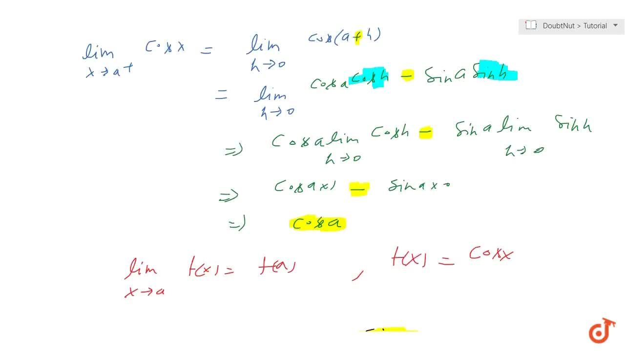 The sine; cosine and (tangent) function is continuous everywhere (on domain).