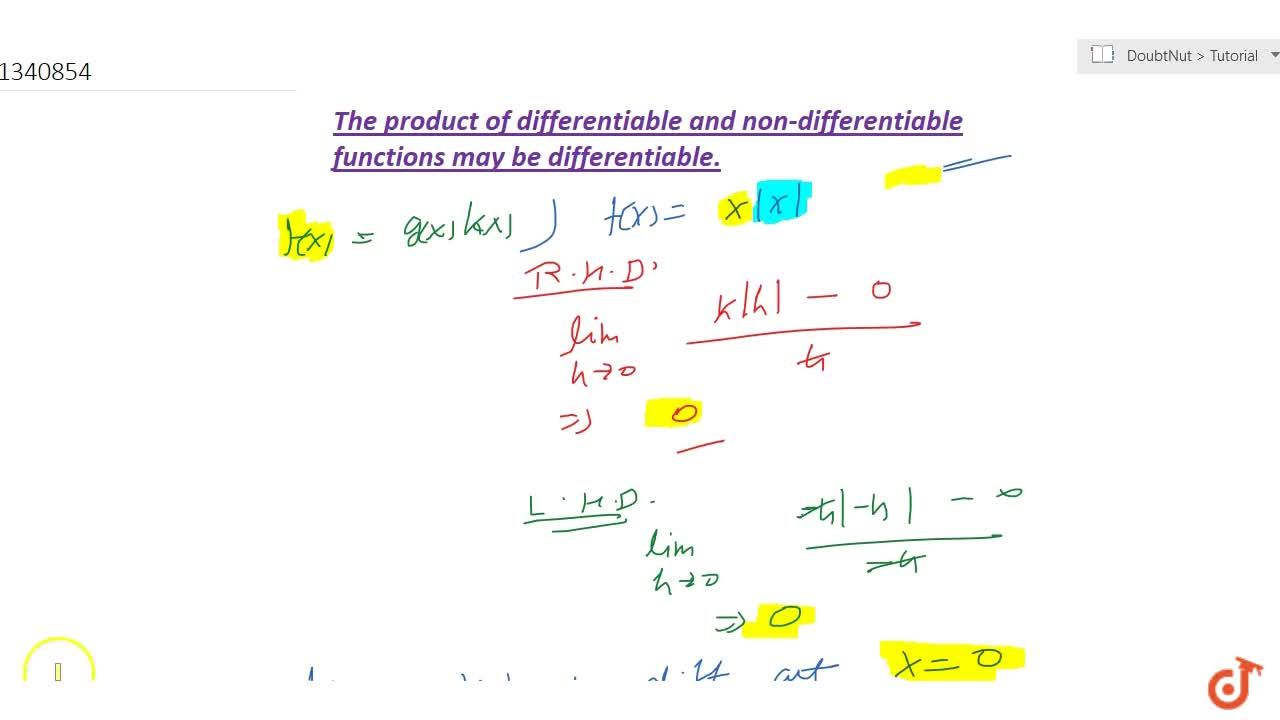 The product of differentiable and non-differentiable functions may be differentiable.
