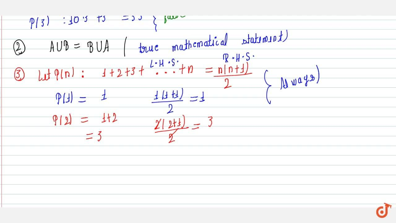 What is Mathematical statements? Explain with the example.