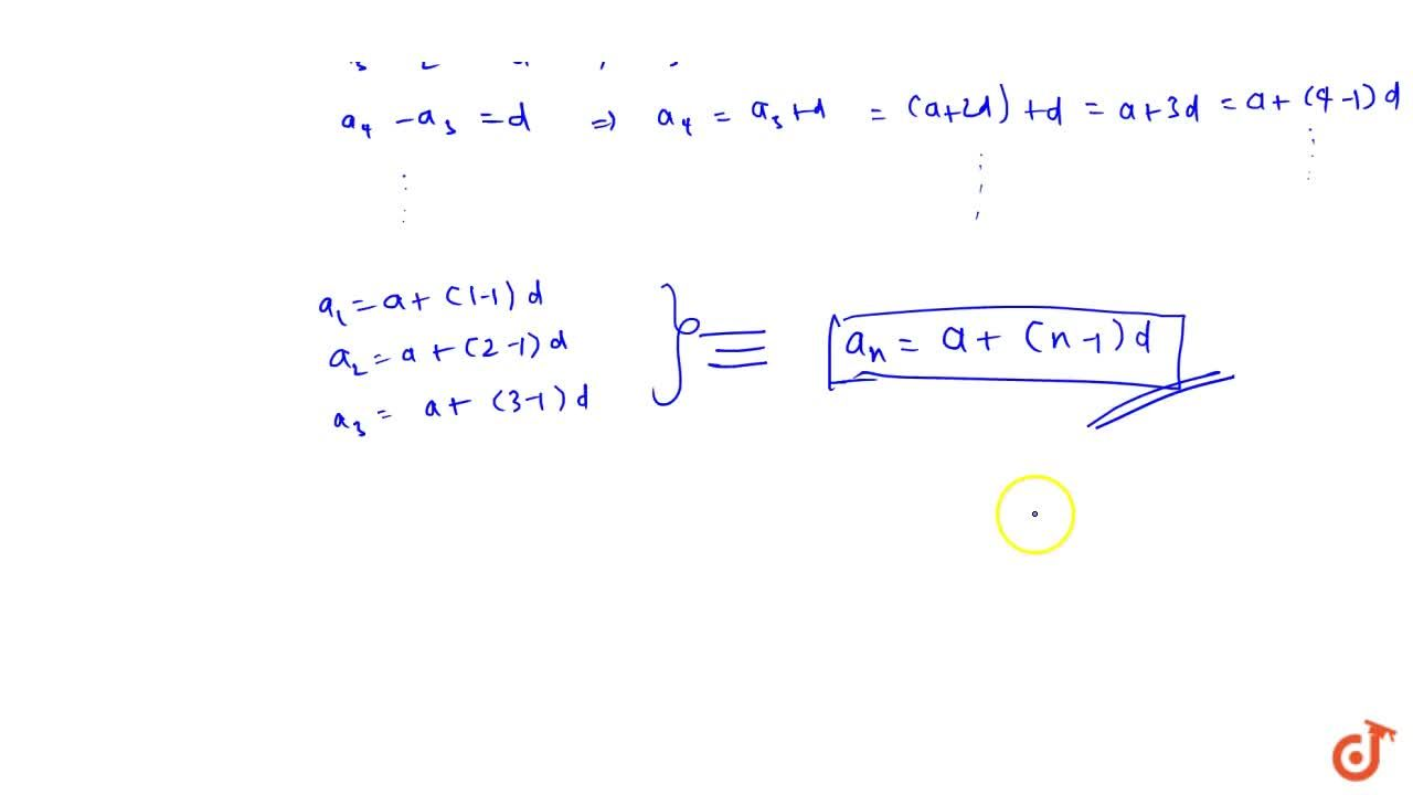 Solution for General term of an AP