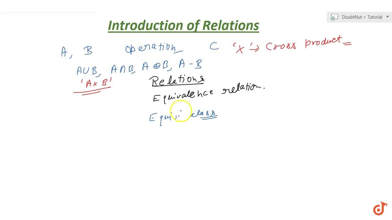Solution for Introduction of Relation