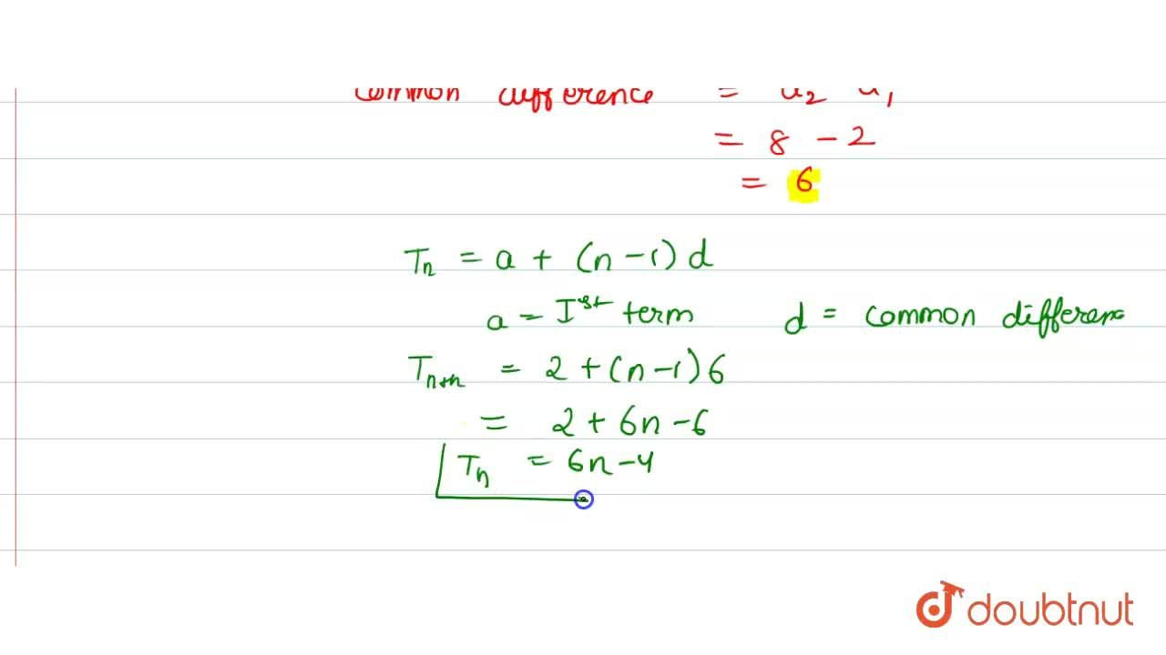 Solution for If the sum of the first n terms of an AP is given