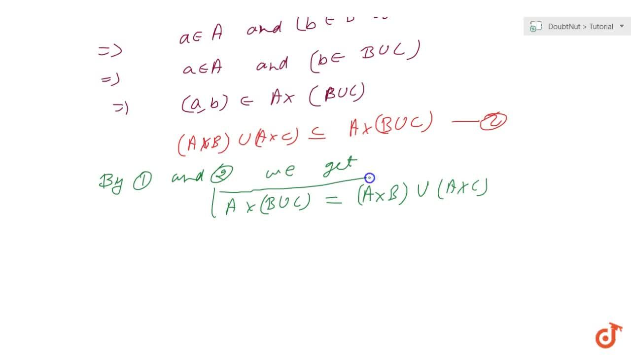 Solution for Theorem 1(i) (For any three set A;B;C; prove tha