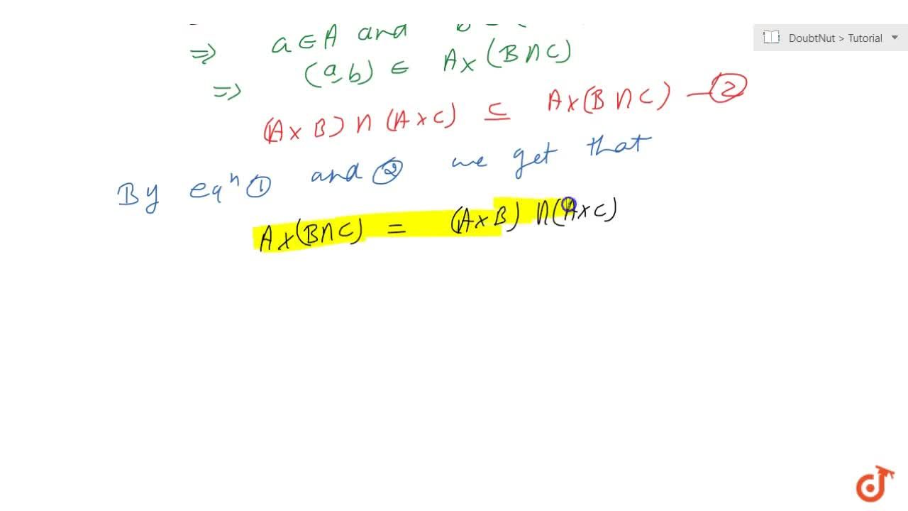 Solution for Theorem 1(ii) (For any three set A;B;C ; prove t