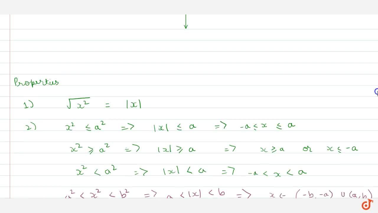 Solution for Modulus function and properties