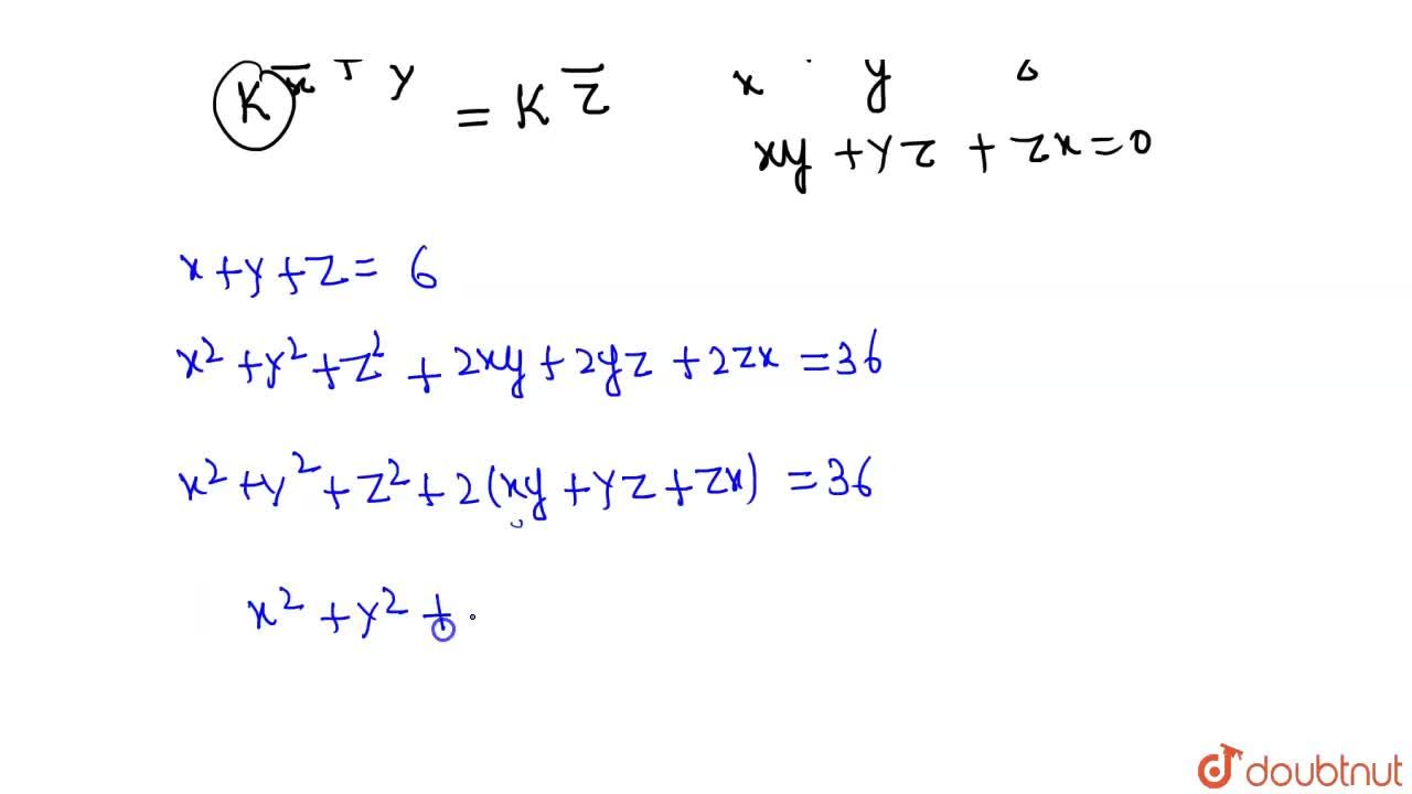 Solution for If x + y + z = 6 and 3^x = 5^y = 15^-z, then f