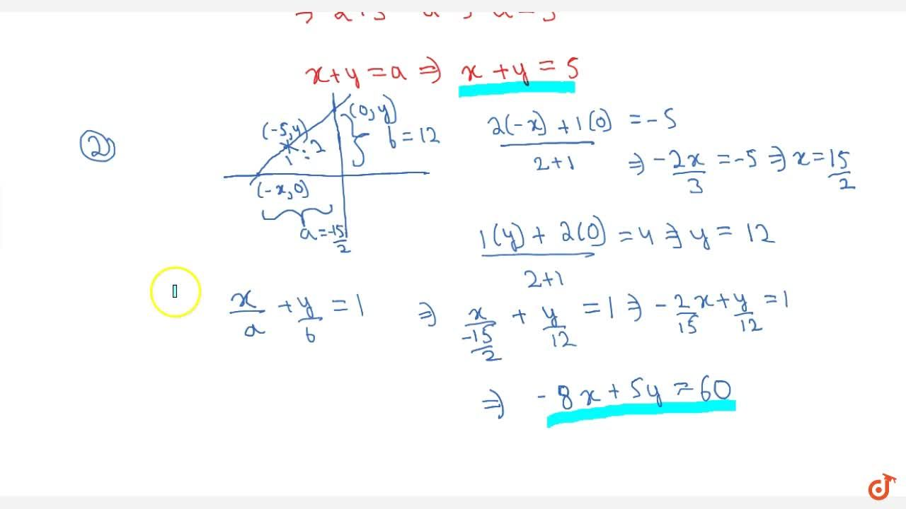 Solution for Find the equation of the straight line that (i)mak