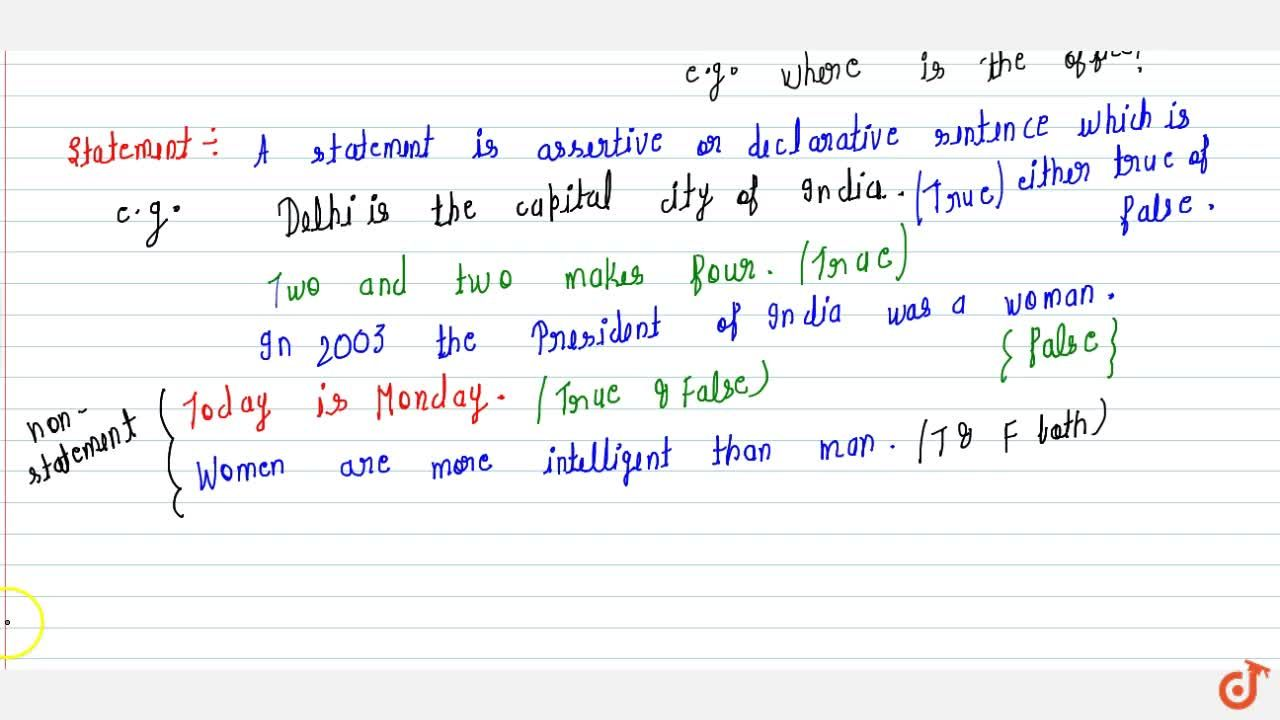 Solution for What is Statement & types of Sentence ?