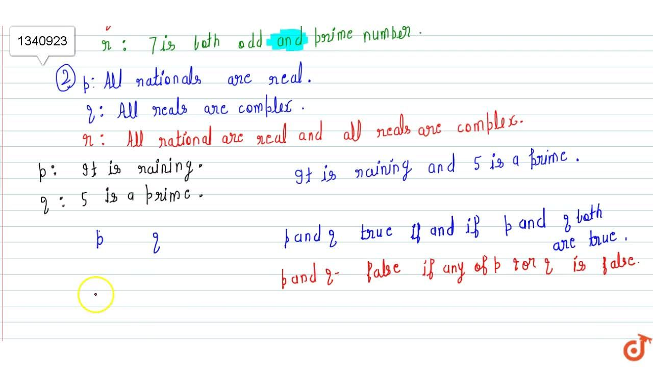 Solution for (1)Use of word AND' and Examples based on this co