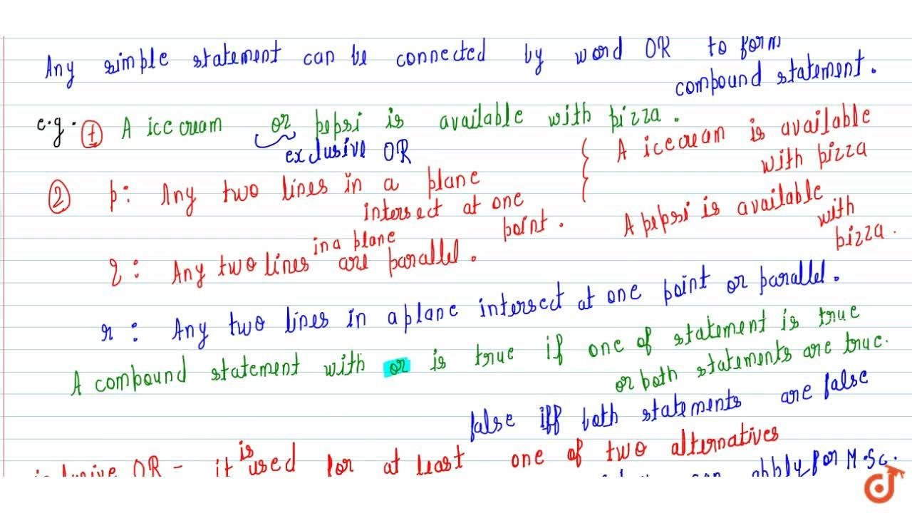 (2)Use of word 'OR' and Examples based on this concepts