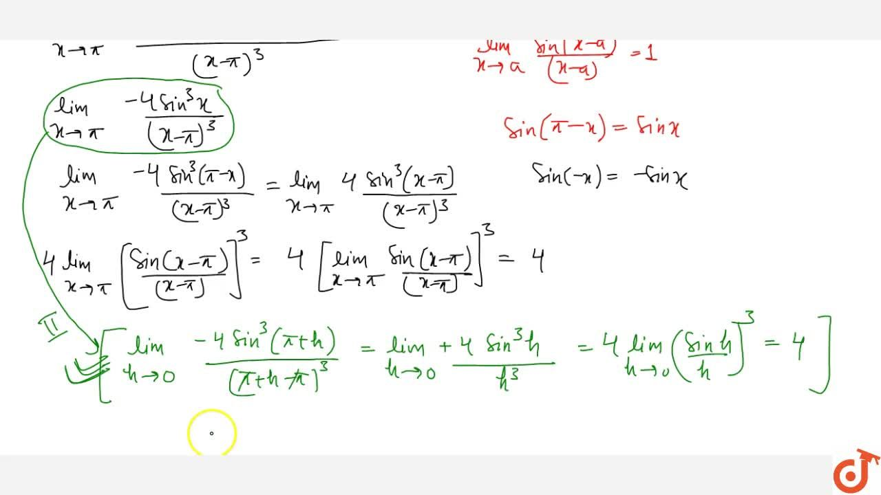 Solution for Examples based on Evaluation of trigonometric limi