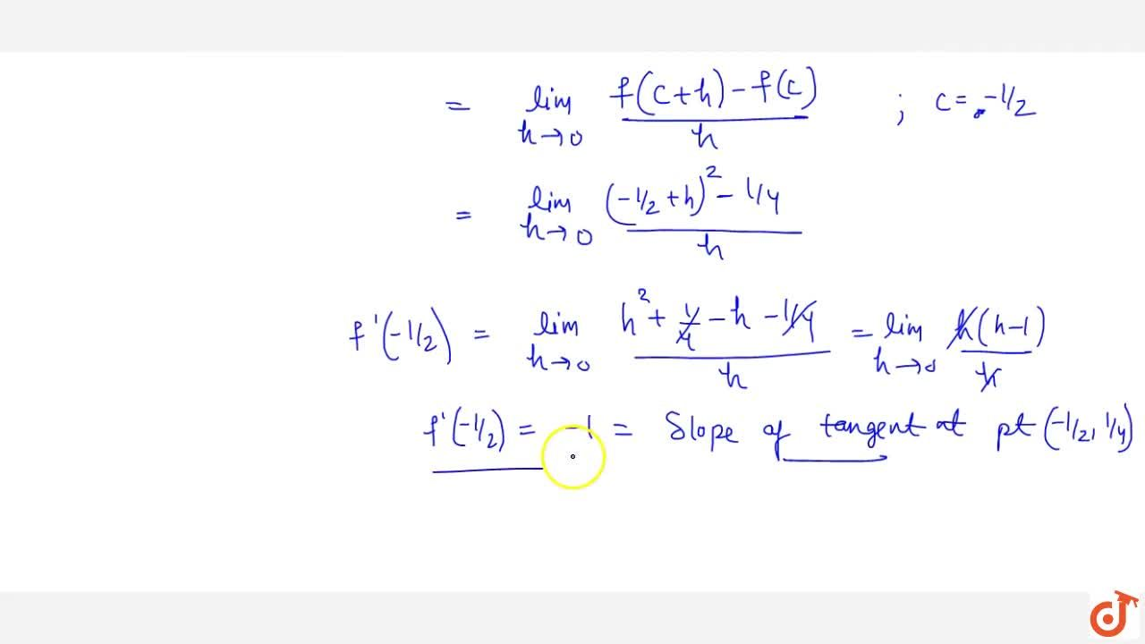 Solution for Definition of Geometrical meaning of Derivative an