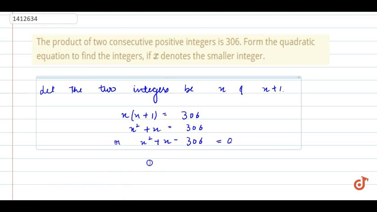Solution for The product   of two consecutive positive integer