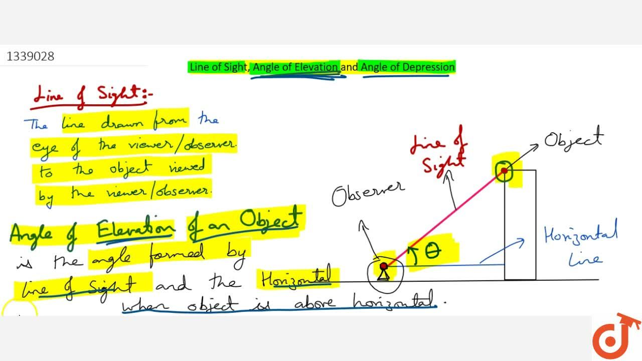 Solution for Explain the angle of elevation & depression with t