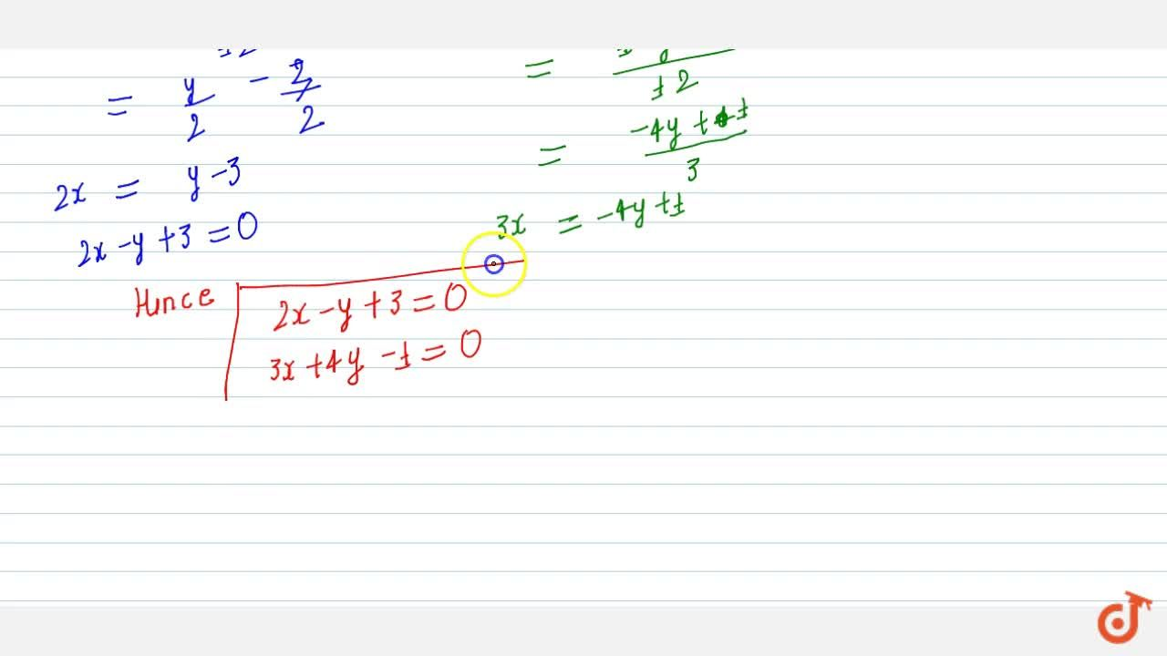 Find the lines whose combined equation is 6x^2+5xy-4y^2+7x+13y-3=0