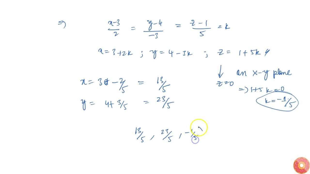 Solution for Find   the coordinates of the point where the lin