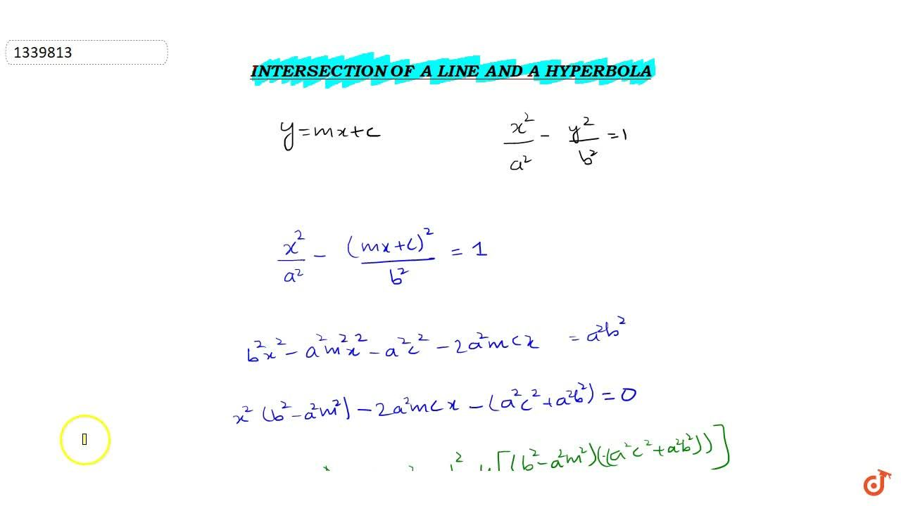Solution for Intersection of line and hyperbola