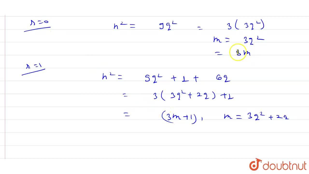 Solution for Using Eulid's divison lemma, show that the square