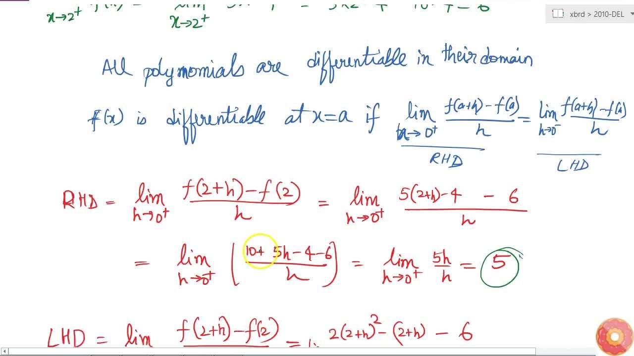 Solution for Show that the function f defined as   follows,