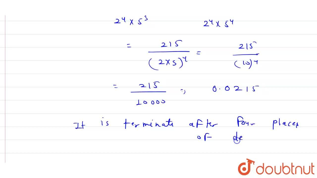 Solution for The decimal expansion of the rational number  43,