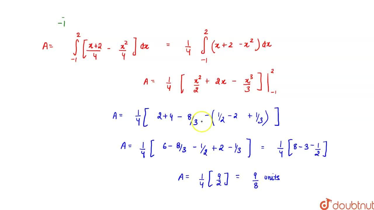 Find the area bounded by  the curve x^2=4yand the line x = 4y^2.