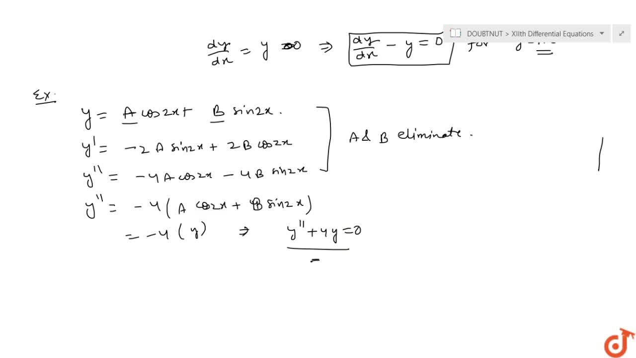 Formation Of Differential Equations
