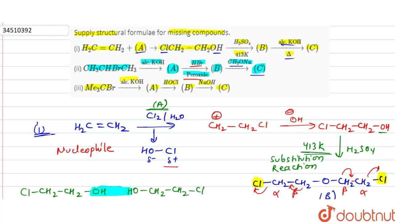 Solution for Supply structural formulae for missing compounds.