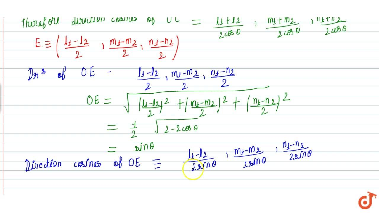 Solution for Direction Ratio of line along the bisector of two