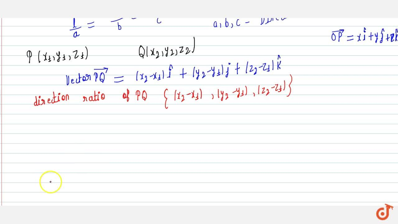 Solution for Direction cosine and ratio of line