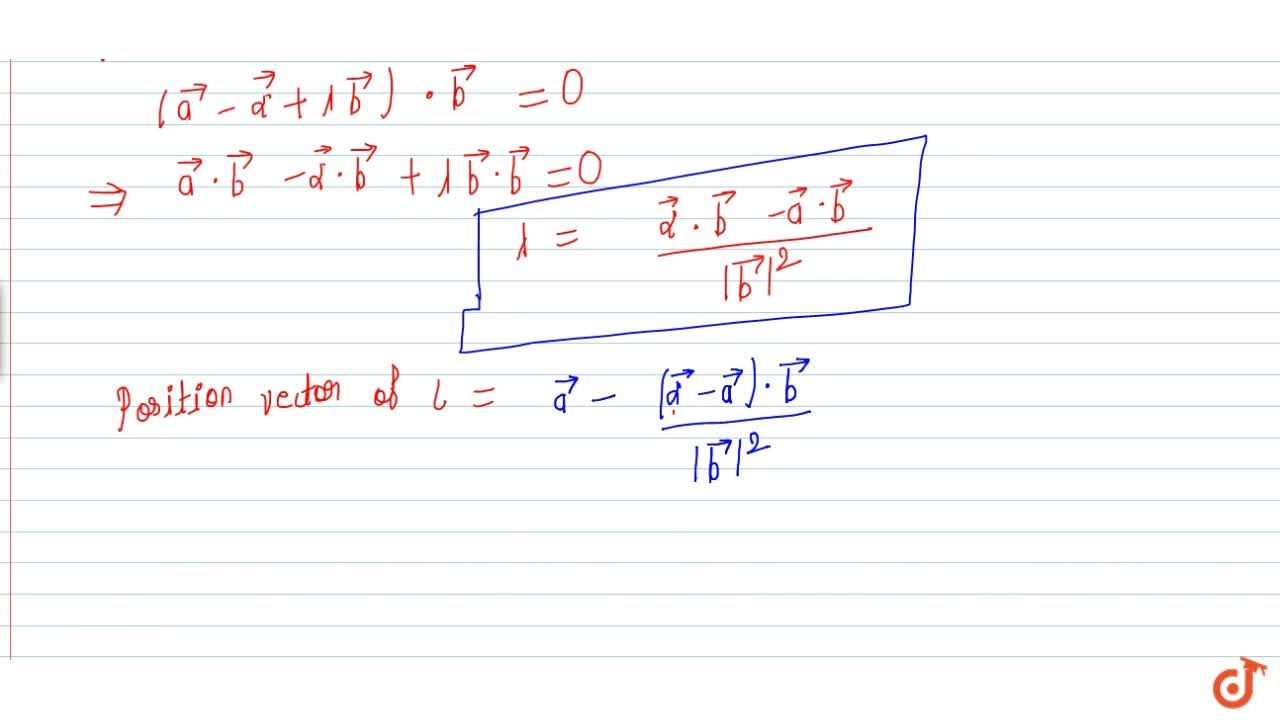Solution for Perpendicular distance of a point from line in vec