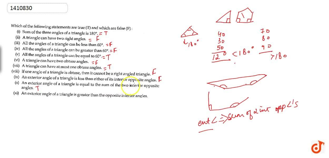 Solution for Which of the following   statements are true (T)