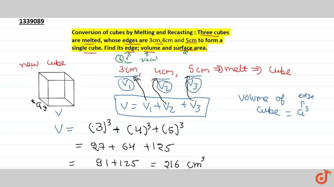 Solution for Conversion of cubes by Melting and Recasting : Thr